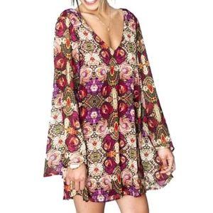 Gabby Low Back Dress in Wild Jewels - SMYM